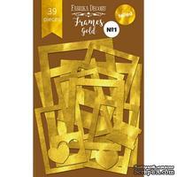 Набор рамок с фольгированием №1 Gold, 39 шт, ТМ Фабрика Декору