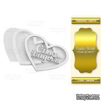 Заготовка для шейкера Heart-Bridal day, цвет золото, ТМ Фабрика Декора