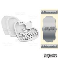 Заготовка для шейкера Hearts-in heart, цвет серебро, ТМ Фабрика Декора