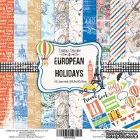 Набор скрапбумаги European Holidays, 30,5x30,5см, Фабрика Декору