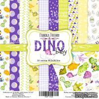 Набор скрапбумаги - Dino baby, 30x30 см, Фабрика Декора