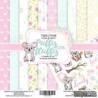 Набор скрапбумаги - Puffy Fluffy Girl, 30,5x30,5 см, ТМ Фабрика Декора