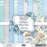 Набор скрапбумаги Shabby baby boy redesign 30,5x30,5см, ТМ Фабрика Декора