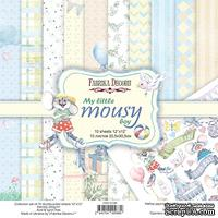 Набор скрапбумаги My little mousy boy 30,5x30,5 см 10 листов, ТМ Фабрика Декору