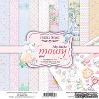 Набор скрапбумаги My little mousy girl 30,5x30,5 см 10 листов, ТМ Фабрика Декору