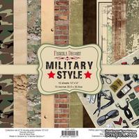 Набор скрапбумаги Military style 30,5x30,5 см, ТМ Фабрика Декора