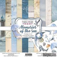 Набор скрапбумаги Memories of the sea 30,5x30,5 см 10 листов, ТМ Фабрика Декора