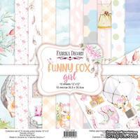Набор скрапбумаги Funny fox girl 30,5x30,5 см 10 листов, ТМ Фабрика Декора