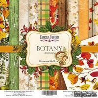 Набор скрапбумаги Botany autumn, 20x20см, Фабрика Декора