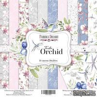 Набор скрапбумаги - Tender orchid, 20x20 см, Фабрика Декора