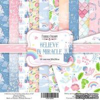Набор скрапбумаги - Believe in miracle, 20x20 см, Фабрика Декора