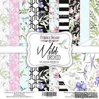 Набор скрапбумаги - Wild orchid, 20x20 см, ТМ Фабрика Декора