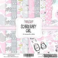 Набор скрапбумаги Scandi Baby Girl, 20x20 см, ТМ Фабрика Декору
