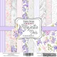 Набор скрапбумаги - Majestic Iris, 20х20 см, Фабрика Декора