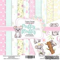 Набор скрапбумаги - Puffy Fluffy Girl, 20x20 см, ТМ Фабрика Декора