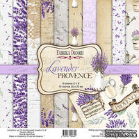 Набор скрапбумаги Lavender Provence 20x20см, ТМ Фабрика Декору