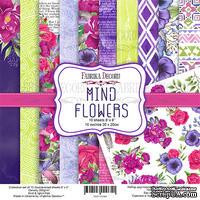Набор скрапбумаги Mind Flowers 20x20см, ТМ Фабрика Декору