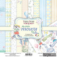 Набор скрапбумаги My little mousy boy 20x20 см 10 листов, ТМ Фабрика Декору