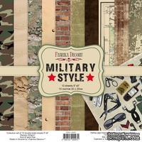 Набор скрапбумаги Military style 20x20 см, ТМ Фабрика Декора