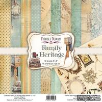 Набор скрапбумаги Family Heritage 20x20 см, ТМ Фабрика Декора