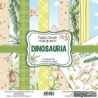 Набор скрапбумаги Dinosauria 20x20 см 10 листов, ТМ Фабрика Декора