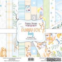 Набор скрапбумаги Funny fox boy 20x20 см 10 листов, ТМ Фабрика Декора