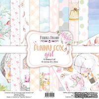 Набор скрапбумаги Funny fox girl 20x20 см 10 листов, ТМ Фабрика Декора