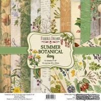 Набор скрапбумаги Summer botanical diary 20x20 см 10 листов, ТМ Фабрика Декора