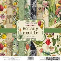 Набор скрапбумаги Botany exotic 20x20 см, ТМ Фабрика Декора