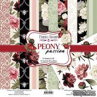 Набор скрапбумаги Peony passion 20x20 см, ТМ Фабрика Декора