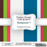 Набор скрапбумаги Backgrounds 7, 15x15 см 8 листов, ТМ Фабрика Декора