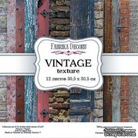 Набор скрапбумаги - Vintage texture, 30,5x30,5 см, ТМ Фабрика Декора