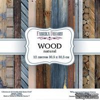 Набор скрапбумаги - Wood natural, 30,5x30,5 см, ТМ Фабрика Декора