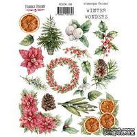 Набор наклеек (стикеров) 19 шт Winter wonders 138, ТМ Фабрика Декора - ScrapUA.com