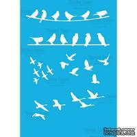 Маска - Фабрика Декора - Птички на проволке, 15смХ20см - ScrapUA.com