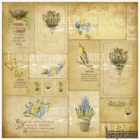Деко веллум (лист кальки с рисунком) Винтажные открытки, ТМ Фабрика Декора