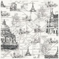 Деко веллум (лист кальки с рисунком) Город, ТМ Фабрика Декора