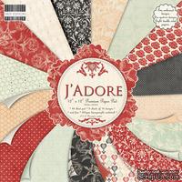 Набор бумаги для скрапбукинга First Edition - J'adore, 16 листов, размер 30х30 см