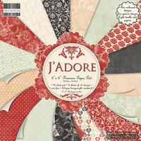 Набор бумаги для скрапбукинга First Edition - J'adore, 16 листов, размер 20х20 см