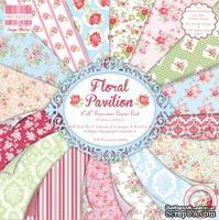 Набор бумаги от First Edition - Floral Pavilion, 20x20 см, 16 листов