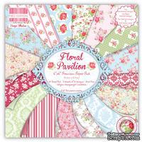 Набор бумаги для скрапбукинга First Edition - Floral Pavilion, 16 листов, размер 15х15 см.