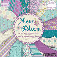 Набор бумаги для скрапбукинга First Edition - New Bloom, 48 листов, размер 20х20см.