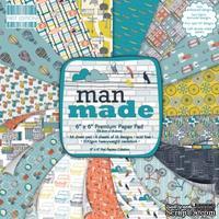 Набор бумаги от First Edition - Man Made, 15х15 см, 16 листов