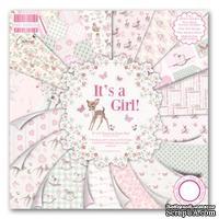 Набор бумаги от First Edition - It's a Girl, 20x20 см, 16 листов