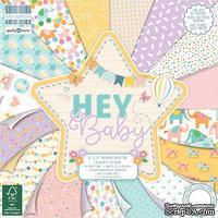 Набор бумаги для скрапбукинга First Edition - Hey Baby, 48 листов, 30х30 см