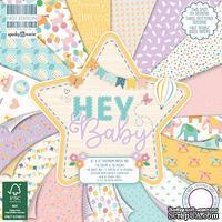 Набор бумаги для скрапбукинга First Edition - Hey Baby, 48 листов, 15х15 см