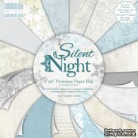 Набор бумаги от First Edition - Silent Night, 15х15 см, 16 листов (сформирован из большого набора)