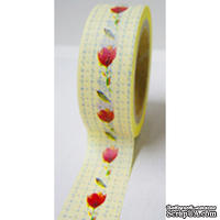 Бумажный скотч Washi Tape Freckled Fawn, FF957, длина 10 м, ширина 1,5 см