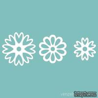 Чипборд от Вензелик - Набор цветочков 02, от 18 до 27 мм, размер: от 18 до 27 мм