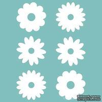 Чипборд от Вензелик - Набор цветочков 03,  13 мм, размер:  13 мм